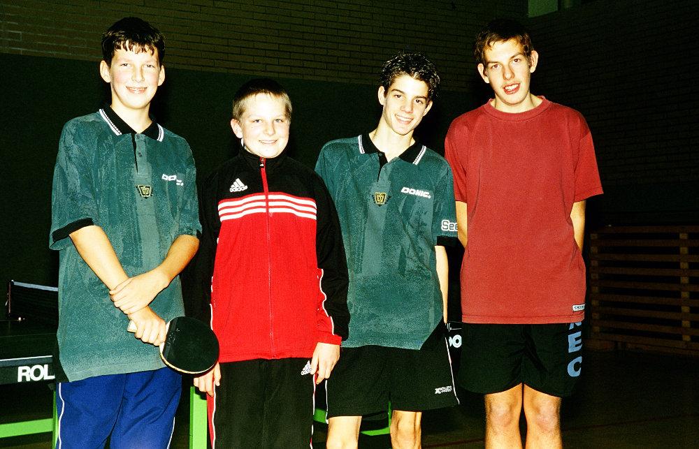 Die Besten (von links): Dominik Förg (4. Platz), Frank Mayershofer (3. Platz), Benedikt Nussbaum (2. Platz), Matthias Ferner (1. Platz)